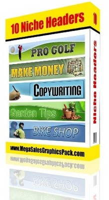 Product picture 10 Niche Headers MRR - Web Banners