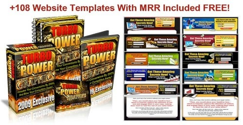 Product picture Graphics Pack + 108 FREE Website Templates!
