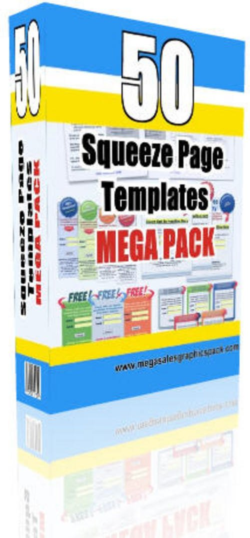 Product picture Mega Squeeze Page Templates Pack